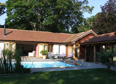 Holiday cottage with outdoor pool image
